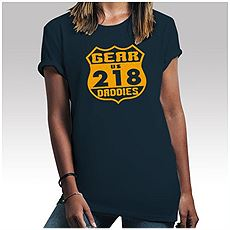 Womens Navy Blue 218 T-Shirt