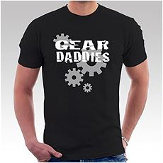 Mens Black Gear Logo T-Shirt
