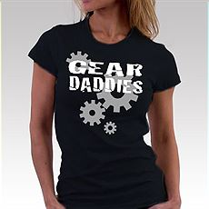 Womens Black Gear Logo Shirt