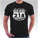 Mens Black 218 T-Shirt
