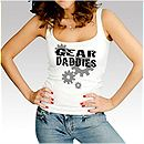 Womens White Gear Daddies Tank